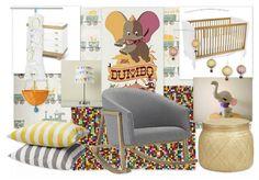 A modern unisex nursery inspired by Disney's Dumbo!