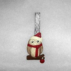 Barn owl ornament  Christmas tree Decoration by Wishcraft2013, £3.00