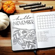 Hello! My name is Jenni, and I'm the person behind Ordinary Epiphany. So that's me, this is my bullet journal, some cute pumpkins, my favorite Microns, and somehow it's also November. How did that happen?! I've been moving more in the minimalist direction lately because of the time factor, but I've been itching to pull out my watercolors. Sigh. Hopefully this month! November is always such a crazy month of transition. Plus we gain an hour of sleep, which is basically my favorite. Not the…