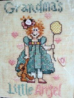 Grandma's Little Angel  Counted Cross Stitch by DocksideDesignsEtc, $4.25