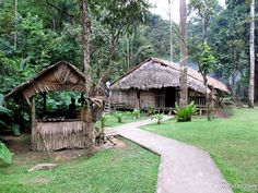Rungus Long House at Mari-Mari Cultural Village.