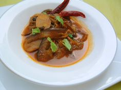 Cuisine indienne Curry d'aubergine