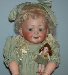 "Hertel, Schwab & Co - Googly - Antique German Doll - 16"" - Just from preciousrosey on Ruby Lane"