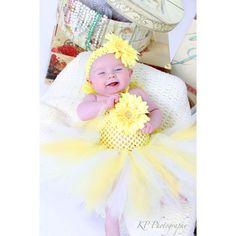 infant tutu dresses   Home » Sunny Daisy Baby Crochet Tutu Dress in White & Yellow
