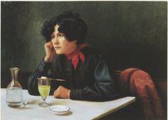 Louis-Marie Homberg La buveuse d'absinthe