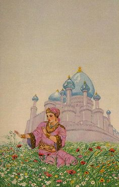 1001 Nights Tarot - Ace of Pentacles Adventure, magic, poetry, and love come to life in this Tarot deck based on the classic 1001 Arabian Nights folktales. Bursting with rich imagery relating to the Arabian renaissance, the exotic allure of these fairy tales bestows timeless wisdom to those who seek it.