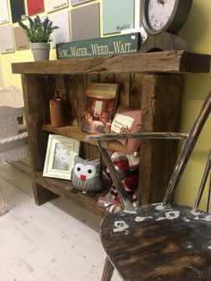Bookcase make from railway sleepers . By Little Chalk Lane