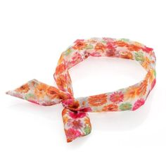 Coloured Floral Print Soft Fabric Lace Design Knot Wired Headband Hair Band Wrap *** Click image for more details.