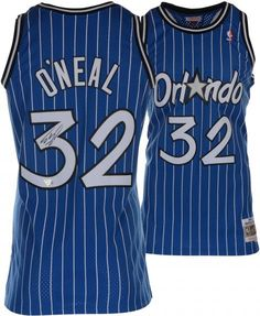 2d2fb30ac88 Magic Shaquille O Neal Signed Blue Jersey Autographed BAS Witnessed