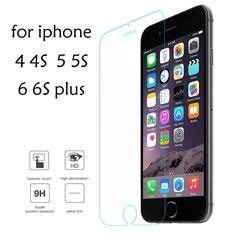 Для iPhone 6 6 s plus Закаленное Стекло Для iPhone 5 5s Экран защитник Стекла Для iPhone 5c SE 4S 4 Защитная Пленка защита Глаз