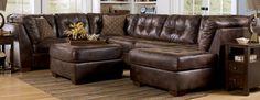 Brown Leather Sectional Sleeper Sofa