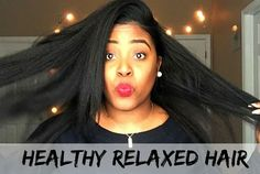 In a sea of natural hair there are still ladies with beautiful long relaxed hair that share their tips and tricks - check these 9 vloggers out! Natural To Relaxed Hair, Healthy Relaxed Hair, Natural Hair Growth, Healthy Hair, Relaxed Hair Growth, Relaxed Hair Journey, Curly Hair Styles, Natural Hair Styles, Natural Hair Conditioner
