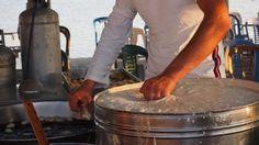 Making Loukoumades by the sea