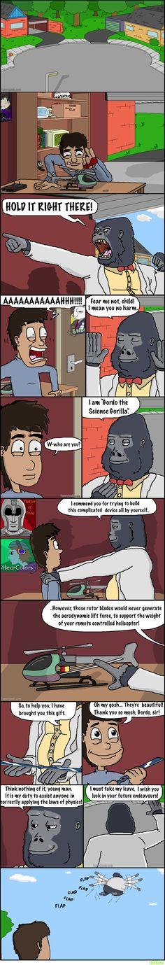 Gordo the Science Gorilla   http://itsthetie.com/