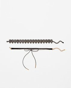 Image 1 of PACK OF 2 CHOKERS from Zara