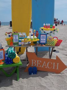 """Photo 11 of Beach Party / Summer """"Toddler-friendly beach bash! Kids Beach Party, Beach Kids, Luau Party, Birthday At The Beach, 2nd Birthday, Birthday Ideas, Party Props, Party Ideas, Summer Parties"""
