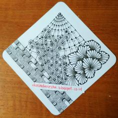 Diva Challenge 343 : new tangle Dewd Doodles Zentangles, Zentangle Patterns, Shrink Art, Challenge, Inktober, Tangled, Art Drawings, White Boards, Black And White