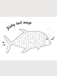 {free printable maze fish}