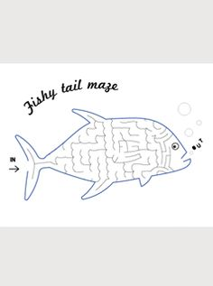 free printable maze fish