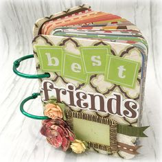 BEST FRIENDS  A-Z Friendship Scrapbook Mini Album ATC size Project Life