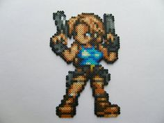 Lara croft hama beads mini by berserk03.deviantart.com on @deviantART