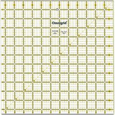 Omnigrid Quilter's Square-12-1/2 X12-1/2