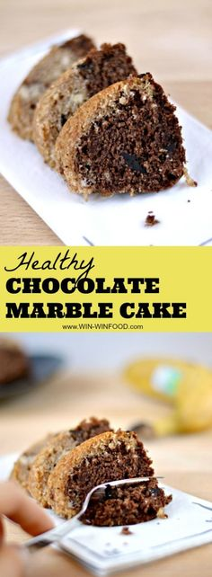 Healthy Chocolate Marble Cake | WIN-WINFOOD.com #healthy #cleaneating #vegan #dairyfree
