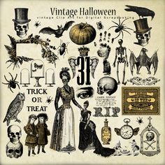 Freebies Vintage Old Paper :Far Far Hill - Free database of digital illustrations and papers halloween illustration Retro Halloween, Happy Halloween, Image Halloween, Casa Halloween, Holidays Halloween, Halloween Crafts, Vintage Halloween Images, Halloween Design, Halloween Fonts