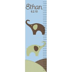 Canvas Elephant Growth Chart Personalized. $29.95, via Etsy.
