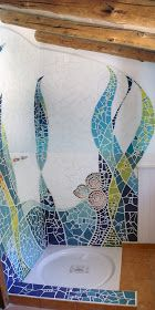 Mosaic on the wall. I invite you to visit the process of this mosaic for a priv . - Mosaic on the wall. I invite you to visit the process of this mosaic for a priv … Mosaic on the wall. I invite you to visit the process of this mosaic for a priv … Mosaic Bathroom, Mosaic Wall Art, Tile Art, Mosaic Glass, Mosaic Tiles, Glass Art, Stained Glass, Mosaic Mirrors, Sea Glass
