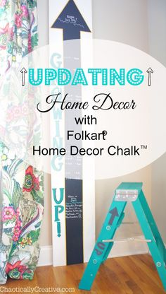 Pin it to #Win It! Win a complete collection of FolkArt Home Decor Chalk and a $250 gift card to help you restore your decor. Enter by 6/3/15 at http://bit.ly/1ko0XJo