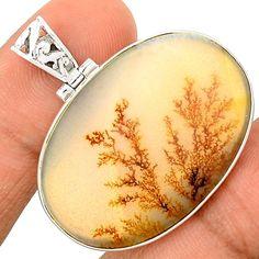 Scenic Dendritic Agate 925 Sterling Silver Pendant Jewelry SP196482 | eBay