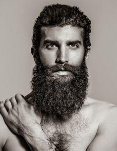 a full thick bushy wild beard dark beards bearded mustache man men shirtless chest hairy bearding #beardsforever