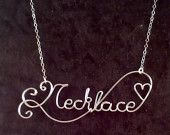 CUSTOM Wire Name or special word in Non-Tarnish Silver Plated Wire NECKLACE...definately want to lern how to do these.