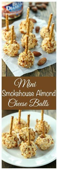 Easy to make mini ch Easy to make mini cheese balls coated in...  Easy to make mini ch Easy to make mini cheese balls coated in Blue Diamond Smokehouse Almonds. These make a great football or holiday party appetizer! Recipe : http://ift.tt/1hGiZgA And @ItsNutella  http://ift.tt/2v8iUYW