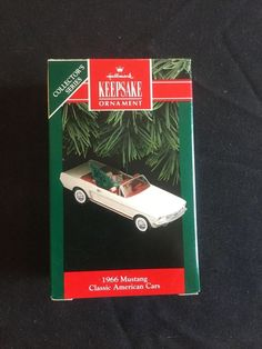 1966 Mustang 1992 Hallmark Ornament - Classic American Cars - 2nd in Series MIB #Hallmark