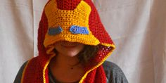 Iron Man Arc Reactor Scarf and Hood by WoolenWords on Etsy, €33.00