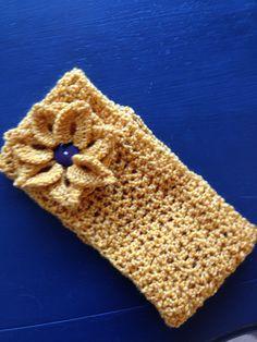 Flowered head band crochet