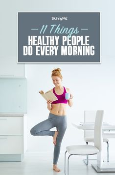 These 11 things healthy people do every morning will prepare your mind and body for your daily routine and bring out the best of your day week and life! Healthy Tips, Healthy Choices, How To Stay Healthy, Healthy Lifestyle Changes, Healthy Lifestyle Motivation, Fitness Tips, Health Fitness, Fitness Women, Women's Health