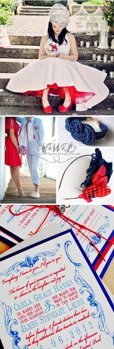 Vintage + Wedding + Love: Red + White + Blue = Perfect vintage 4th of July all American wedding