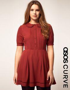 4551ba3d166 ASOS Curve - plus size fashion Peter Pan Collar Dress