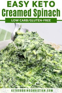 Side dish recipes 206884176619710666 - Easy Creamed Spinach – Keto and Low Carb Chopped spinach in a creamy cheesy sauce makes a great side dish to go with just about any meal! Source by dreamaboutfood Low Carb Side Dishes, Side Dish Recipes, Low Carb Recipes, Diet Recipes, Healthy Recipes, Atkins Recipes, Healthy Appetizers, Cake Recipes, Dessert Recipes