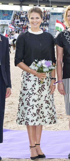 The Princess was displaying no hint of a baby bump at her last appearance at the Longines FEI European Championships in Gothenburg last week