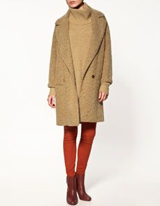 Zara cheviot coat
