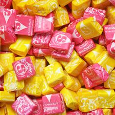 yellow and pink starburst delicous strawberry banana and pina colada tropical starburst starburst