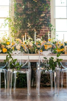 Colorful spring wedding theme inspiration | ElegantWedding.ca Wedding Theme Inspiration, Table Setting Inspiration, Head Tables, Wedding Place Settings, Spring Wedding, Wedding Centerpieces, Reception, Colorful, Rustic