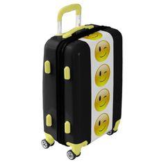 #Winking Emoji Ugo Luggage Suitcase - #luggage #suitcase #suitcases #bags #trunk #trunks