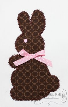 Easter Chocolate Bunny Embroidery Design