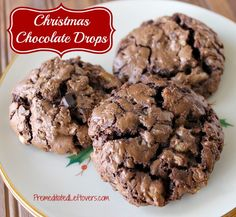 Christmas Chocolate Drops made with Dove Promises Dark Chocolate