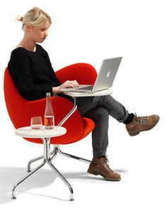 Wilmer T By Stefan Borselius   Multi Tasking Easy Chair With Swivel Table  Tops And Chair